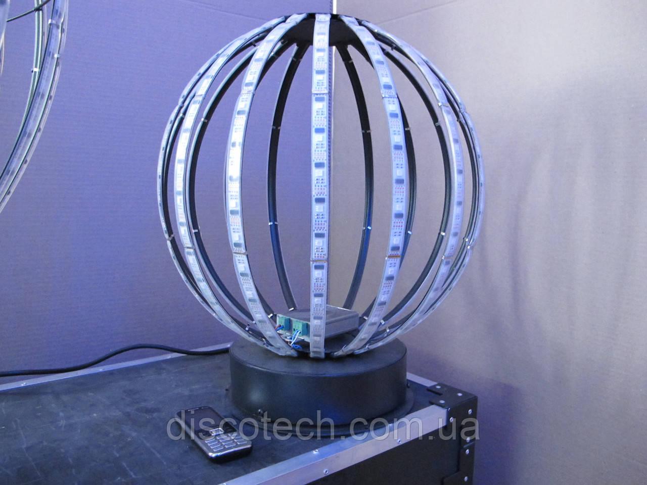 Сфера диаметр- 400мм, 16лучей, 16пикс/луч, шаг-32мм (256пикс, 64W, БП-90W/5V-1шт)