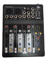 Мікшерний пульт 2 mono +1 stereo 4all Audio MIP-4 Mixer, USB Player