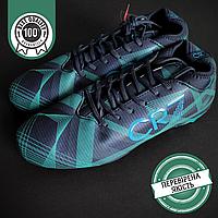Бутси-копи футбольні чоловічі CR7 З носком Термополиуретан Темно-синій (CR7916-4) 40