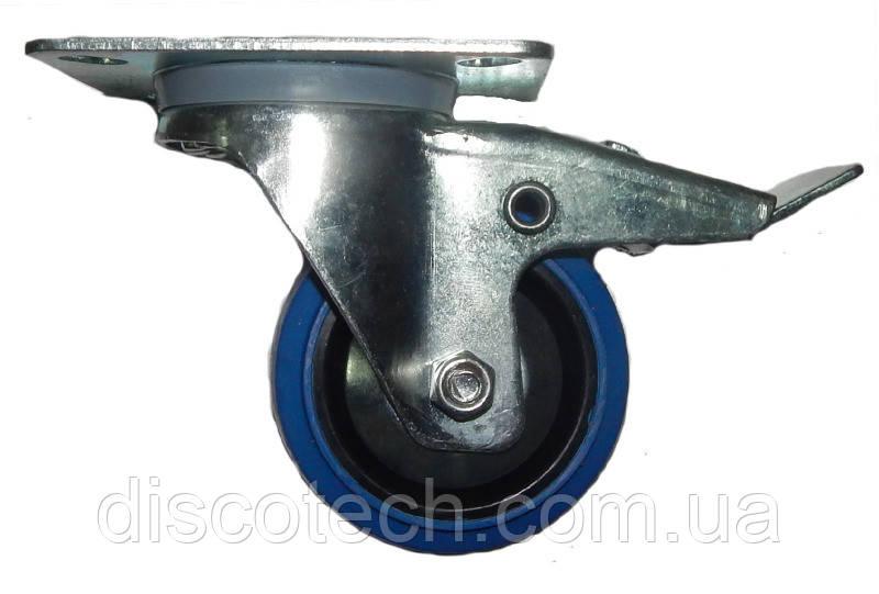FREE CASE W04 (37091), Колесо з гальмом 80 мм синє