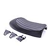 Мото сидіння на байк, кастом, сідло Bobber Seat + кріплення, чорна