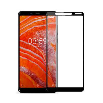 Стекло защитное FULL GLUE 9H Nokia 3.1 Plus Black