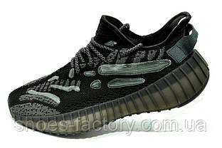 Кросівки чоловічі в стилі Yeezy Boost Black Рефлективні