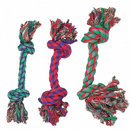Flamingo (ФЛАМИНГО) COTTON KNOT MINI игрушка для собак веревочная кость, 2 узла, маленькая