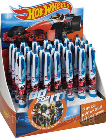 Ручка шариковая автомат 4 цвета Hot Wheels