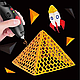 Ручка 3D аккумуляторная с трафаретом K9902, фото 7