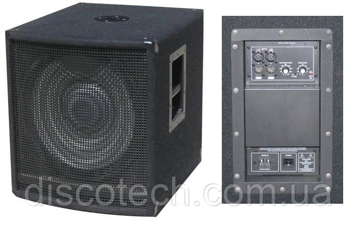"""Активний сабвуфер City Sound CSW-15BA, 15"""", 600/1200 Вт, 8 Ом"""