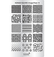 Мини пластина для стемпинга Konad Square Image Plate 14