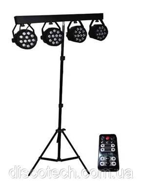 Комплект парів New Light PL-31A-RGB LED PAR LIGHT 4*12*1W RGBW