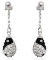 Серьги TN710. Серебро 925. Swarovski Crystals