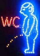 """Світлодіодна рекламна вивіска TL-214 """"WC man"""""""