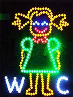 """Світлодіодна рекламна вивіска TL-215 """"WC woman"""""""