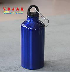 Бутылка для воды спортивная алюминиевая с карабином Camping Sports 400 мл
