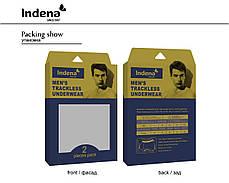 Труси чоловічі боксери бренду INDENA (безшовні, бордового кольору) Арт.85152, фото 3
