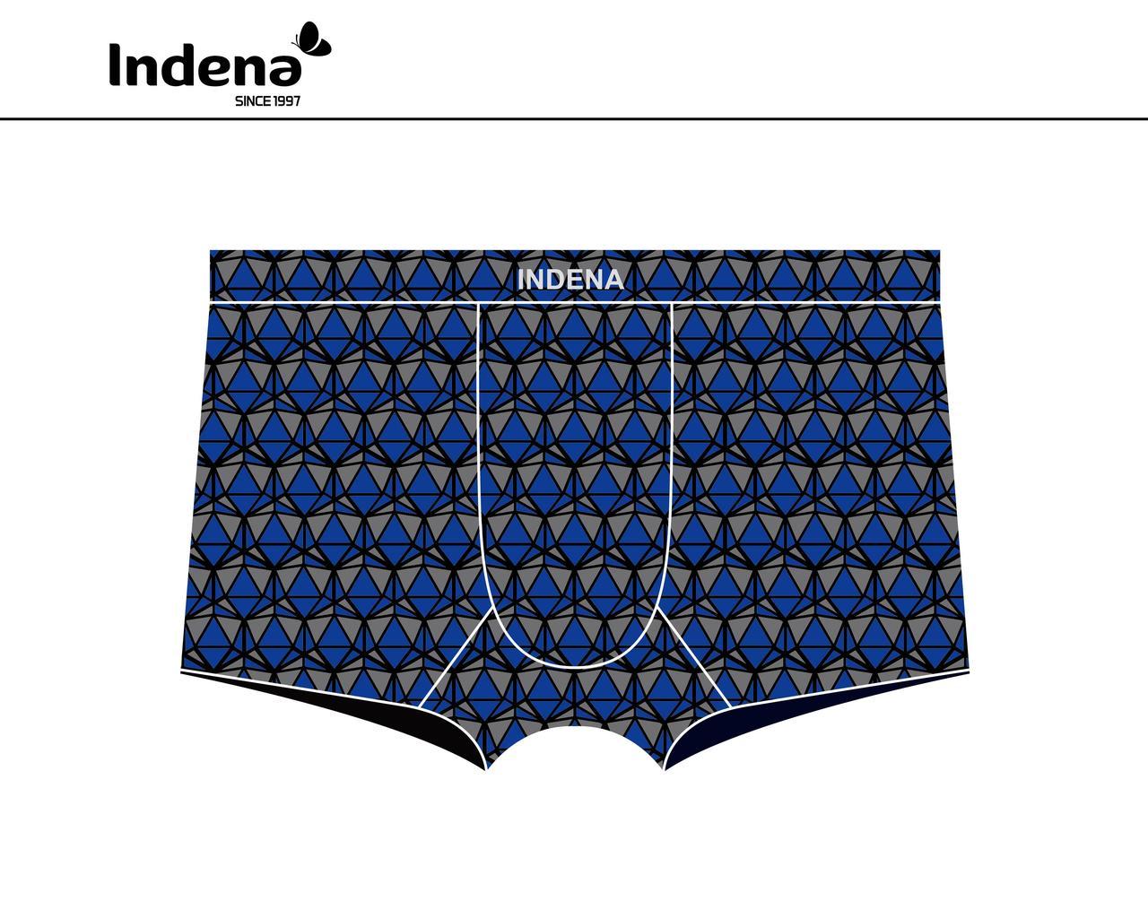 Труси чоловічі боксери бренду INDENA (безшовні, бордового кольору) Арт.85152