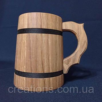 Пивний бокал з натурального дерева 900 мл. з дуба