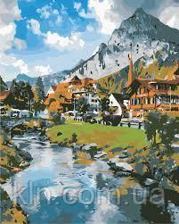 Картина за номерами ArtStory Гірське село 40 х 50 см (арт. AS0864)