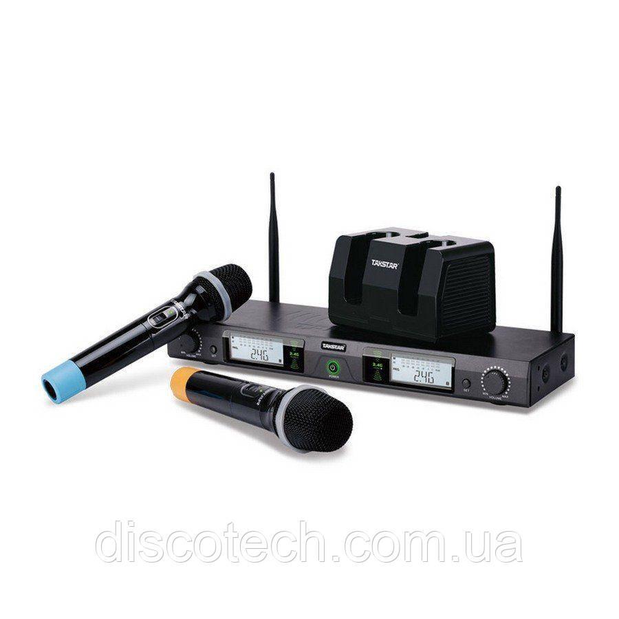 DG-K80 2,4ГГц цифровая радиосистема с док станцией подзарядки микрофонов  -