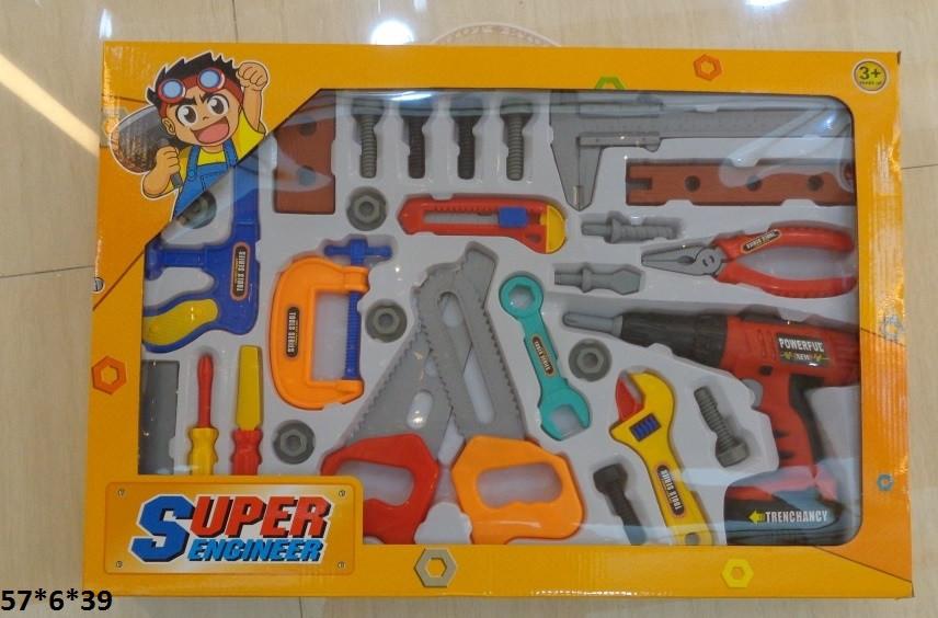 Дитячий ігровий набір інструментів Мої перші інструменти дриль викрутки, ключі