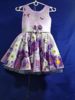 """Сукня дитяча з квітами на дівчинку 4-6 років """"DIANA""""купити недорого від прямого постачальника"""