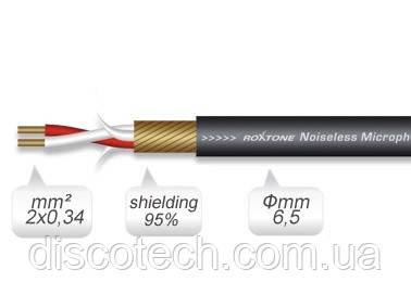 Кабель мікрофонний Roxtone MC006, 2х0.34 кв. мм, вн. діаметр 6,5 мм, 100 м