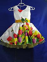 """Сукня дитяча з тюльпанами на дівчинку 4-6 років """"DIANA""""купити недорого від прямого постачальника"""
