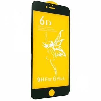 Стекло 6D Premium- iPhone 6 Plus -белый,  тех. упаковка