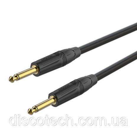 Готовий інструментальний кабель Roxtone GGJJ100L3, 1х0.5 кв. мм, вн. діаметр 7 мм, 3 м