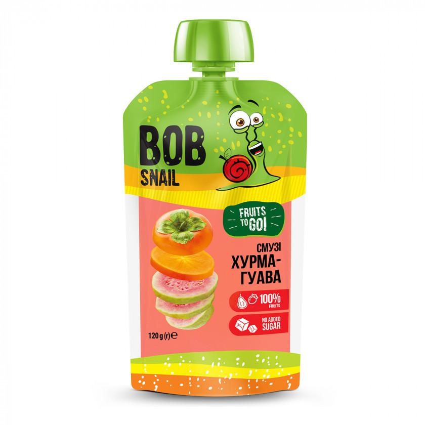 Пюре фруктове Bob Snail Смузі Хурма-Гуава, 120г