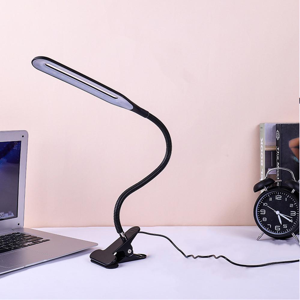 Настольная лампа светодиодная на прищепке гибкая LED лед черная лампа прищепка XSD 206 USB кабель 22 диода