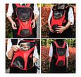 Рюкзак переноска для кота Красная 35*25*31 см, сумка переноска для собак   рюкзак переноска для котів (GK), фото 7