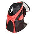 Рюкзак переноска для кота Красная 35*25*31 см, сумка переноска для собак   рюкзак переноска для котів (GK), фото 8