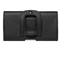Универсальный чехол на пояс для телефона 5.0, 5.5, 6.0 дюймов Черный
