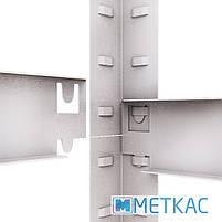 Стелаж Стандарт ОМ-14 200х100х50 Меткас, 220 кг/полку, 5 полиць, МДФ, оцинкований, металевий, поличний, фото 8