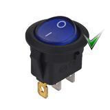 Выключатель KCD1-101N-8, синий
