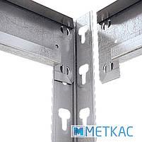 Стелаж МКП ОМ-3 168х140х60 Меткас, 300 кг на полицю, 4 полиці, МДФ, оцинкований, металевий, поличний, фото 3
