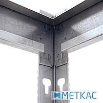 Стелаж МКП ОМ-38 312х180х60 Меткас, 300 кг на полицю, 5 полиць, МДФ, оцинкований, металевий, на склад, фото 4