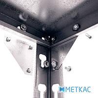 Стелаж Комбі ОС-19 2400х900х400 Меткас, 120 кг/полку, 5 полиць, металеві полиці, оцинкований, в підвал, фото 4