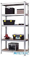 Стелаж Стандарт ОД-1 180х90х40 Меткас, 220 кг, металевий стелаж в гараж, для складу, на балкон, фото 2