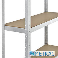 Стелаж Стандарт ОД-1 180х90х40 Меткас, 220 кг, металевий стелаж в гараж, для складу, на балкон, фото 6