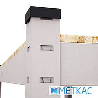 Стелаж Стандарт ОД-1 180х90х40 Меткас, 220 кг, металевий стелаж в гараж, для складу, на балкон, фото 7