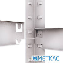 Стелаж Стандарт ОД-1 180х90х40 Меткас, 220 кг, металевий стелаж в гараж, для складу, на балкон, фото 8