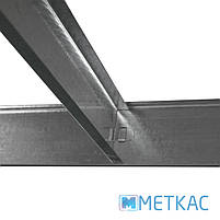 Стелаж Стандарт ОД-1 180х90х40 Меткас, 220 кг, металевий стелаж в гараж, для складу, на балкон, фото 9