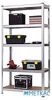 Стелаж Стандарт ОД-5 180х100х50 Меткас, 220 кг/полку, 5 полиць, ДСП, оцинкований, металевий, поличний, фото 2