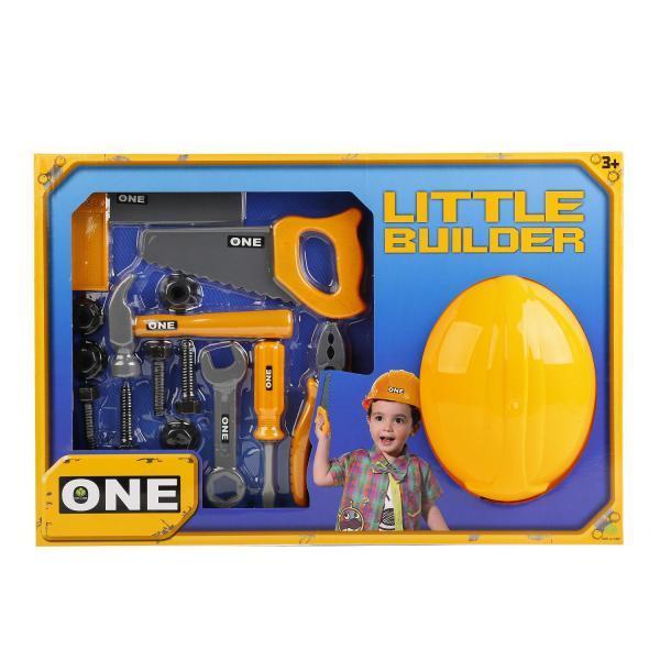 Детский игровой набор строительных инструментов с каской арт. 515-6