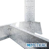 Стелаж Стандарт ОС-21 2400х1000х500 Меткас, 130 кг/полку, 5 полиць, металеві полиці, оцинкований, в, фото 4