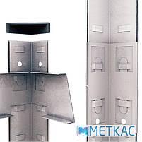 Стелаж Стандарт ОС-21 2400х1000х500 Меткас, 130 кг/полку, 5 полиць, металеві полиці, оцинкований, в, фото 6