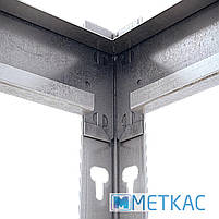 Стеллаж МКП ОДУ-3 1680х1400х600 Меткас, 400 кг на полку, 4 полки, ДСП, оцинкованный, металлический, полочный, фото 2