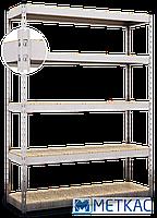 Стелаж МКП ОДУ-30 2400х1800х500 Меткас, 400 кг на полицю, 5 полиць, ДСП, оцинкований, металевий, на склад, фото 2