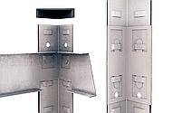 Стелаж Бюджет 4001 180х90х45 Меткас, 100 кг/полку, оцинкований, металевий, 5 полиць, сталева полку, фото 2